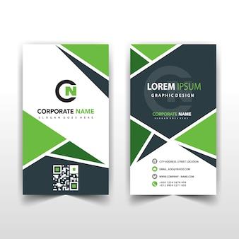 녹색 세로 추상 카드