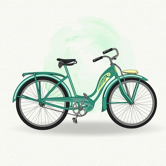 Green vintage bicycle