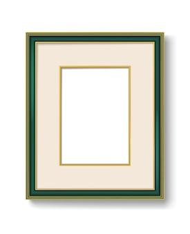 Green vintage picture frame