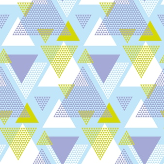 Green and violet elegant creative repeatable motif with triangles for wrapping paper or fabric.