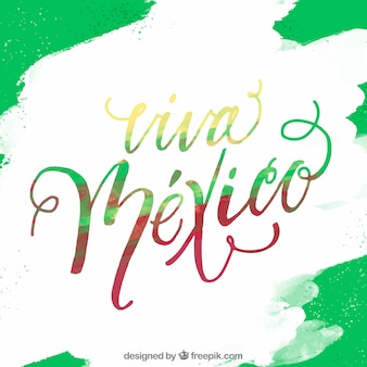 Green viva mexico lettering background