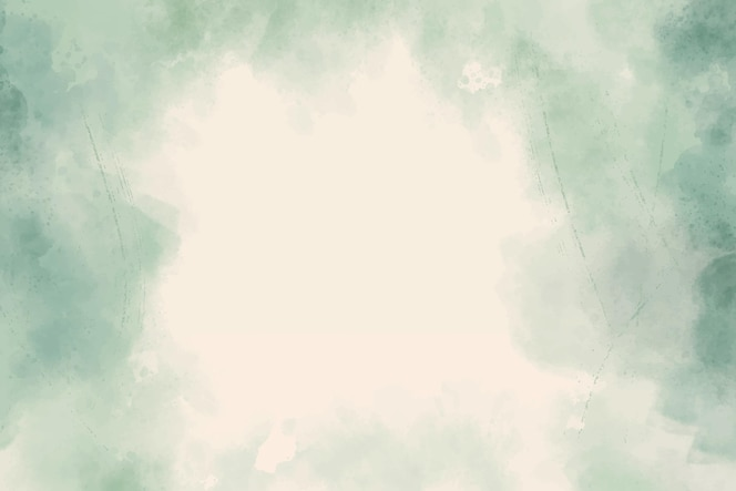 Green watercolor abstract background