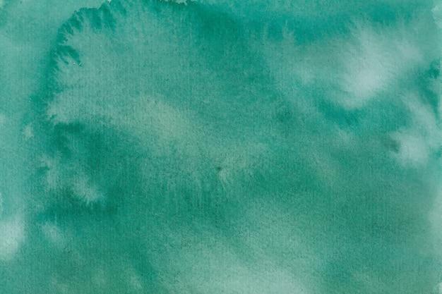 Зеленая акварель абстрактный фон