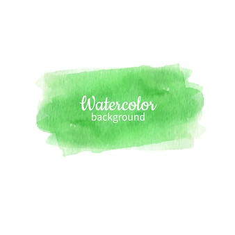 Green watercolor abstract hand painted background