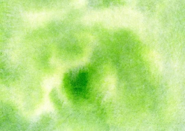 緑の水彩画の背景と抽象的なテクスチャ背景