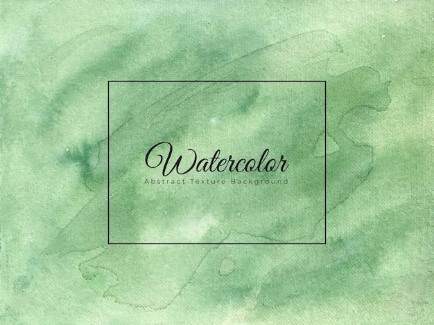 Зеленый акварельный фон и абстрактная текстура