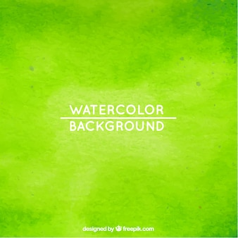 Green watercolor background Premium Vector