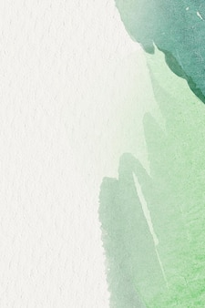 Green watercolor on a beige background