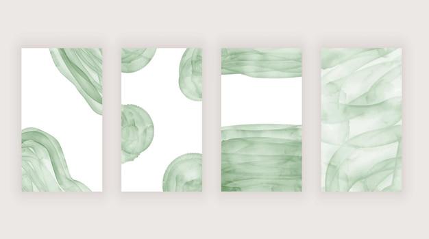 Зеленый акварельный мазок кисти для историй в социальных сетях
