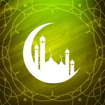 그린 수채화 이슬람 배경