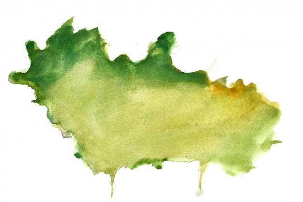 Green watercolor splash stain texture background