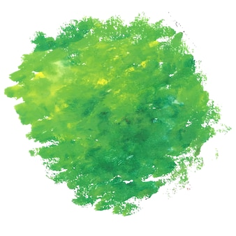Green watercolor stain background