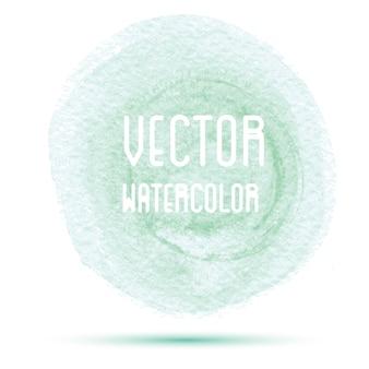 녹색 수채화 얼룩에 고립 된 흰색 배경.