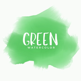 Green watercolor stain texture background