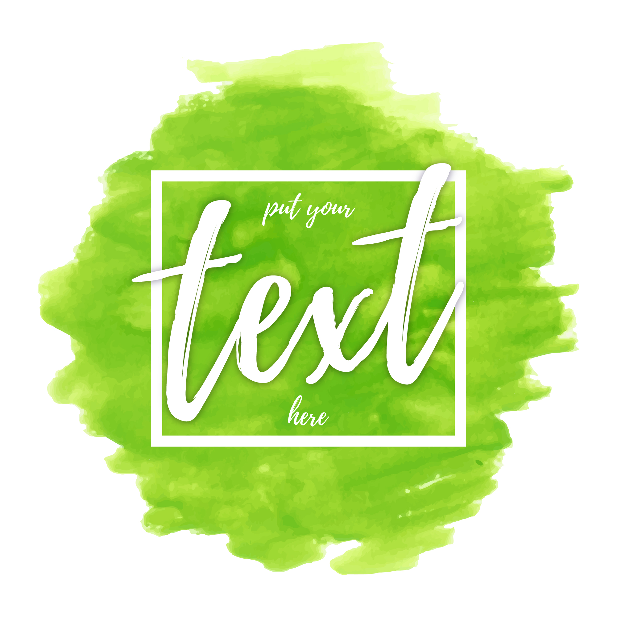 Green watercolor with text template