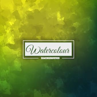Зеленый акварельный фон