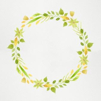 Green watercolour wreath