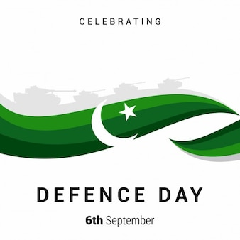 Green wave background of pakistan day