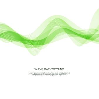 Green wave elegant background