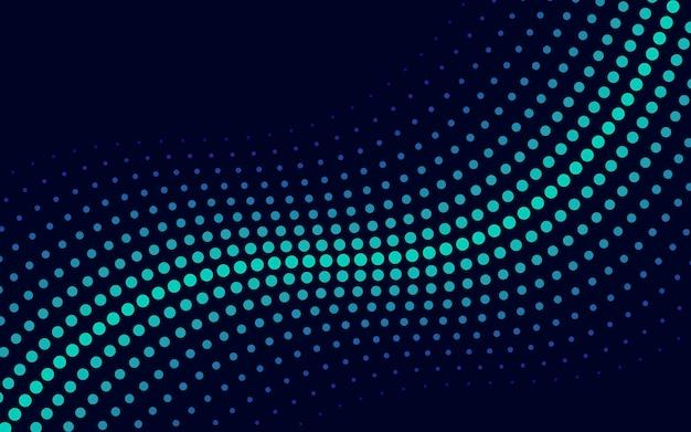Зеленая волна полутоновых фон вектор