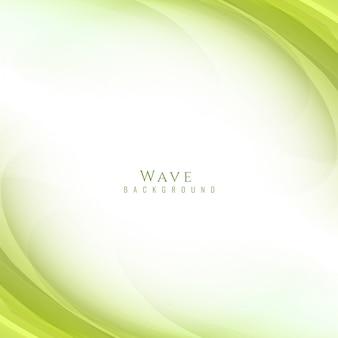 Green wavy background design