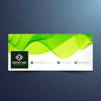 Green wavy facebook banner design
