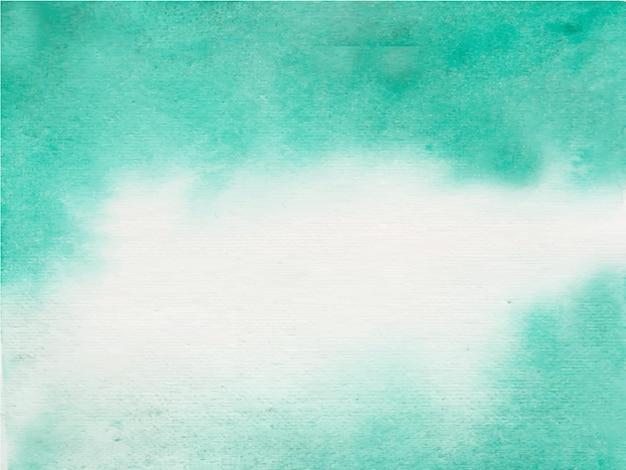 白の抽象的な水彩テクスチャの背景と緑。