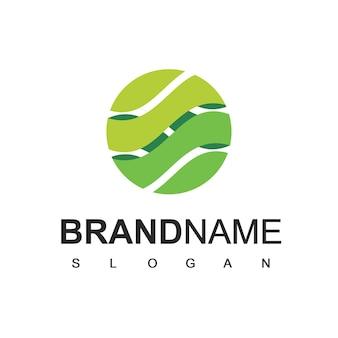 Шаблон логотипа зеленый мир