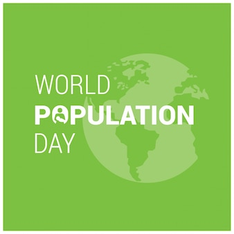Green world population day design