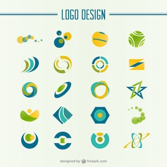 Green and yellow abstract logo