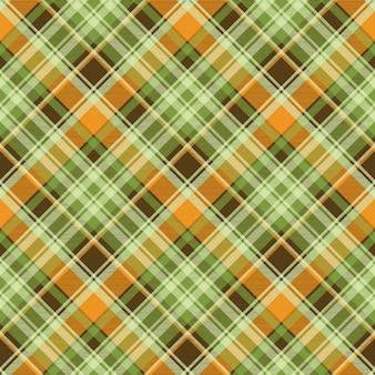 녹색 노란색 체크 배경 완벽 한 패턴