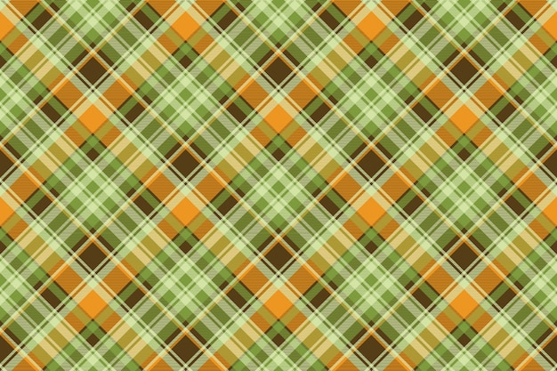 Green yellow check seamless pattern