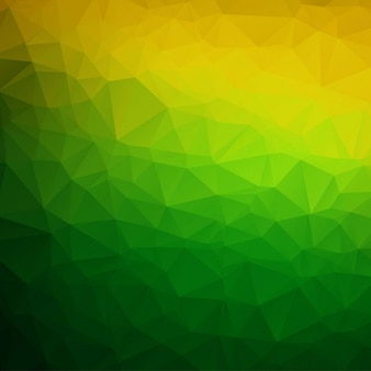 Green and yellow polygonal background
