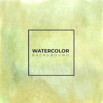 緑黄色い水彩手描き紙テクスチャ背景。