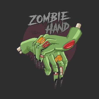 Green zombie hands