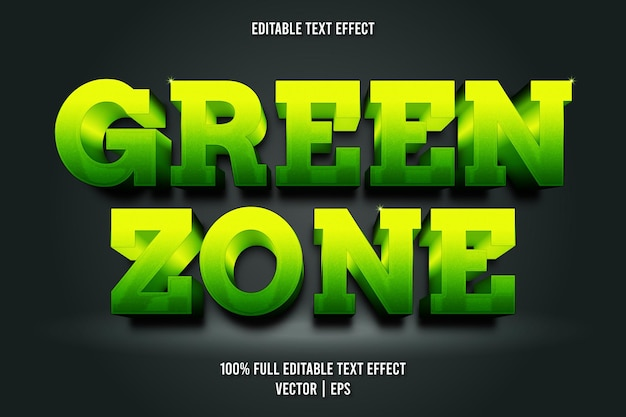 Green zone editable text effect luxury style