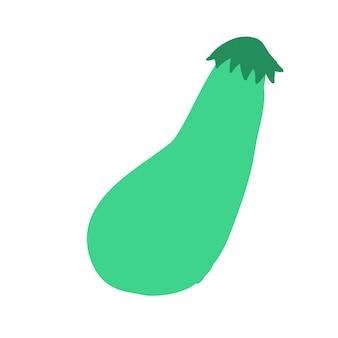 Зеленый цуккини каракули стиль векторных элементов handdraw иллюстрации