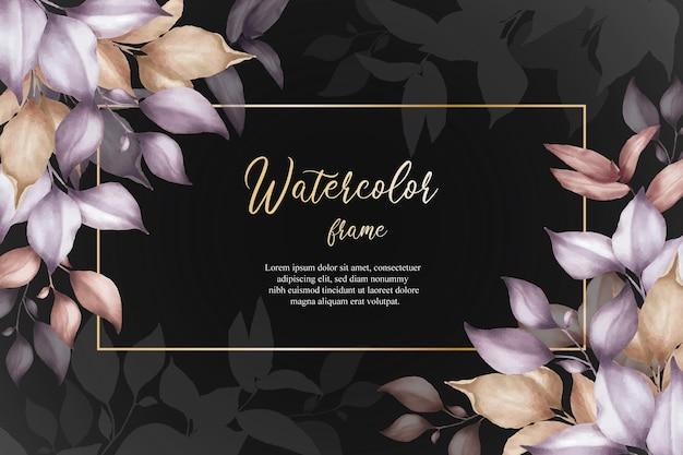 녹지 꽃 배열 배경 템플릿