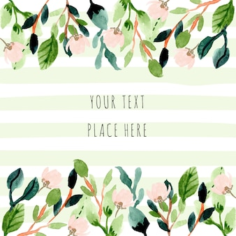 Greenery watercolor floral frame