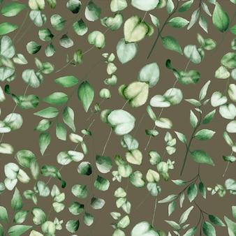Зелень акварель цветочные бесшовные модели дизайна