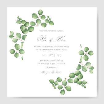 Greenery watercolor frame multi purpose template design