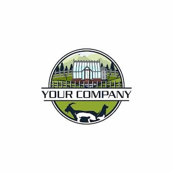 Greenhouse farm logo