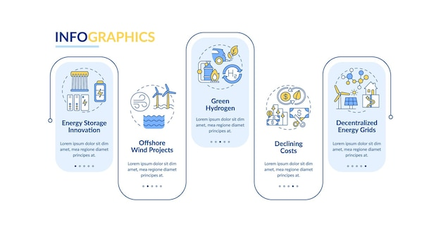 Greenhouse gas emissions  infographic template. offshore wind energy presentation design elements. data visualization with 5 steps. process timeline chart. workflow layout with linear icons