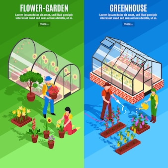 Greenhouse vertical banner set