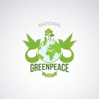 Greenpeace day vector design