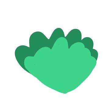 Зеленый айсберг салат каракули стиль векторных элементов handdraw иллюстрации