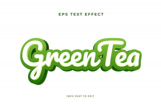 Greentea green white text effect