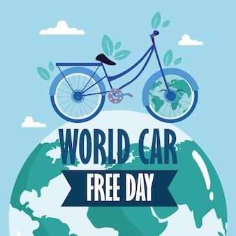 Greenting card world car free day