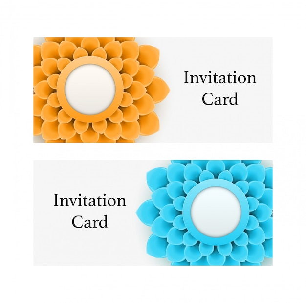Greeting card or background with flowers