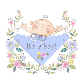 Greeting card of the boy's birth.